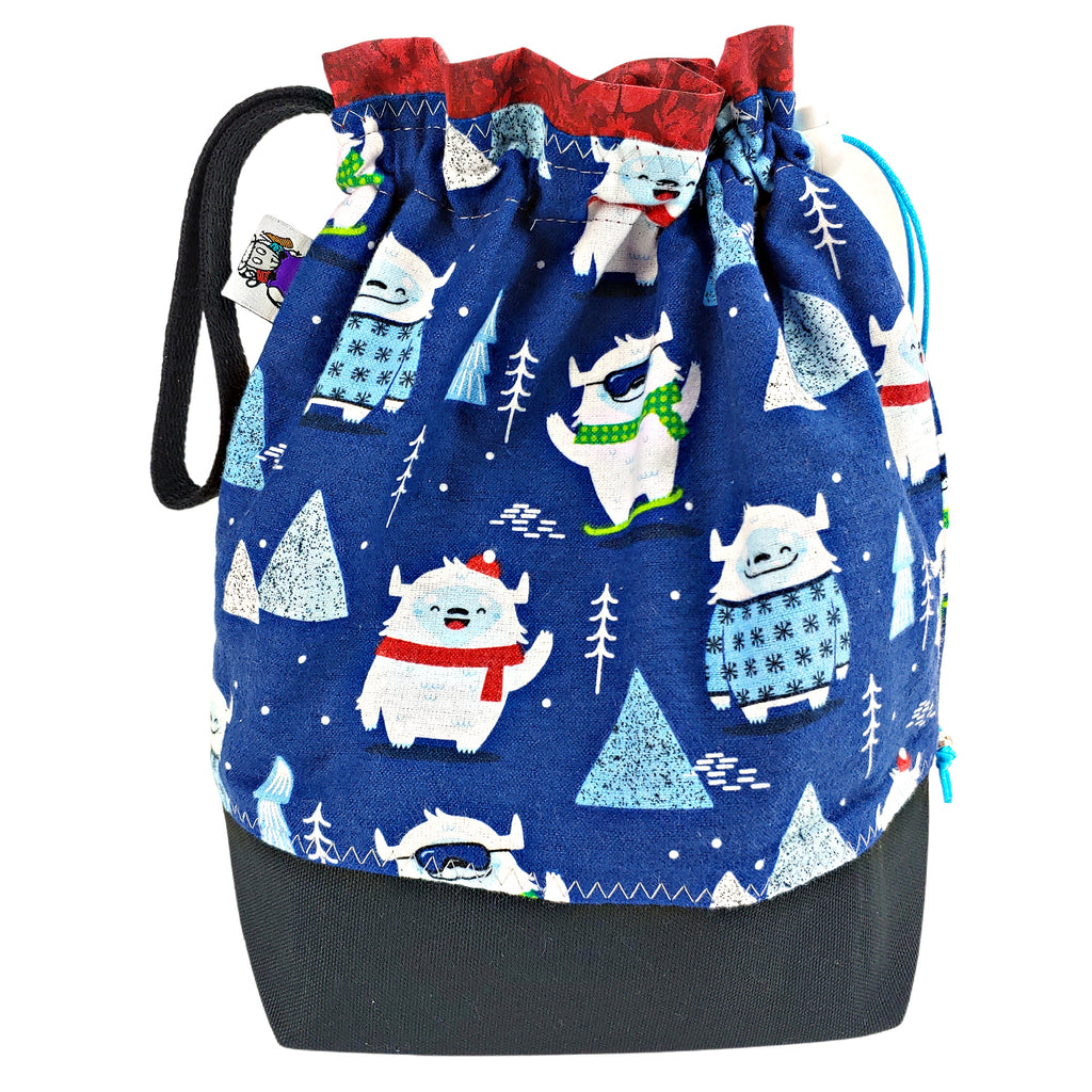 New Year, New Yeti (Flannel) </br> Medium Project Bag
