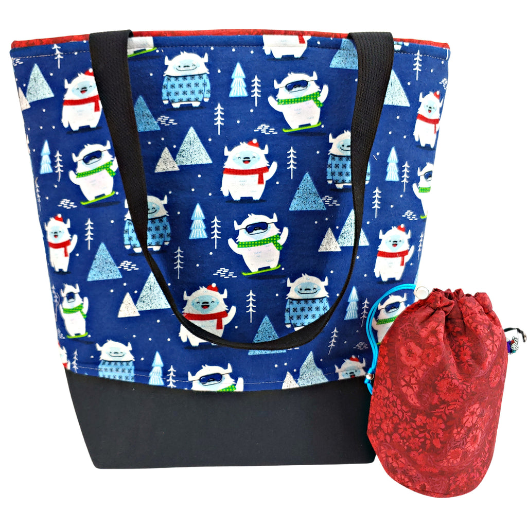 New Year, New Yeti (Flannel) </br> XL Project Bag </br> Studio Tote & Tot