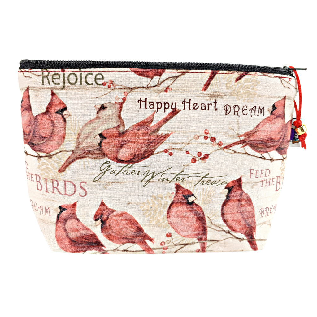 Winter Cardinal </br> Zipper Notion Pouch