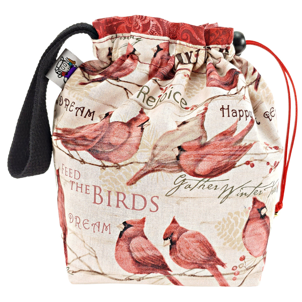 Winter Cardinal </br> Small Project Bag