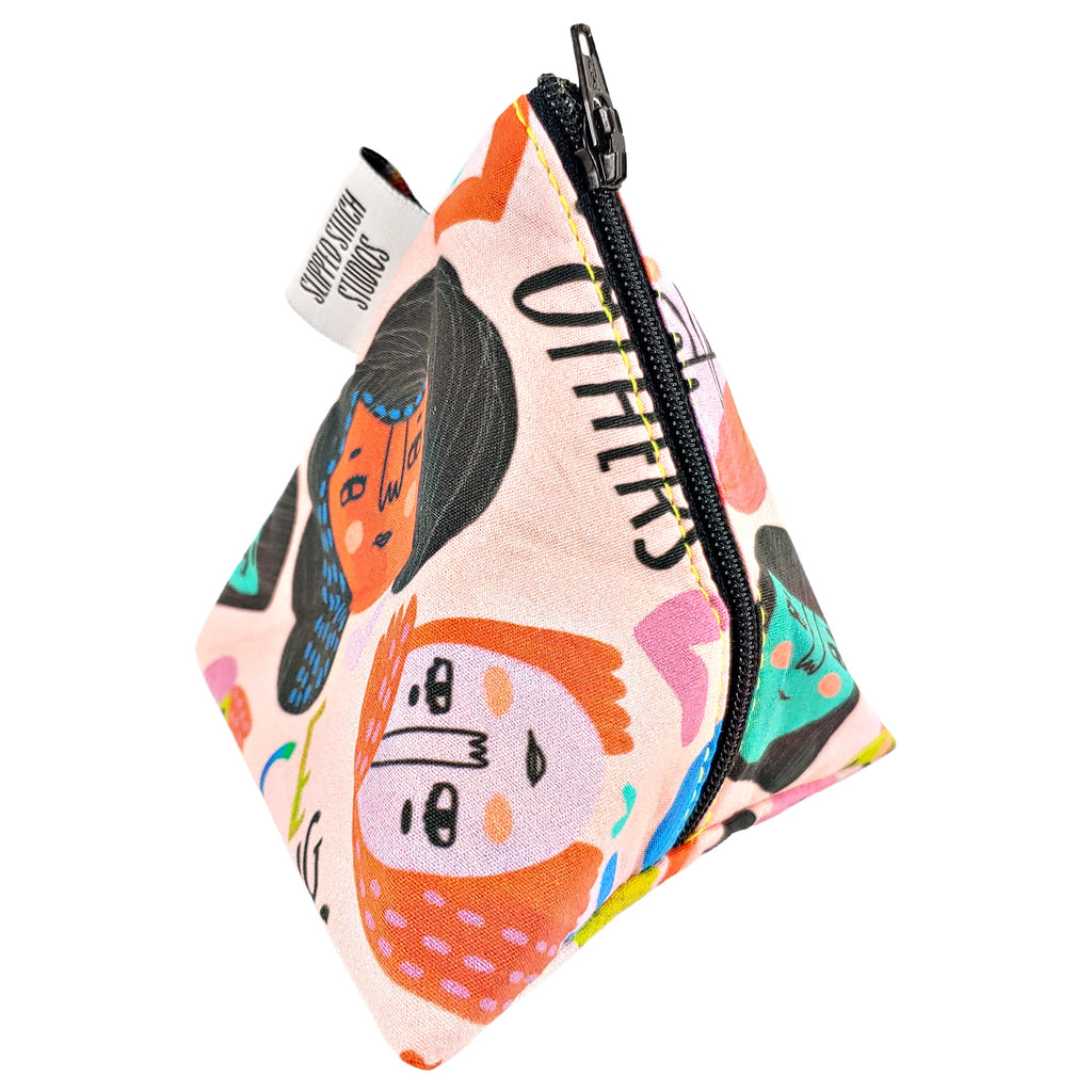 We Rise By Lifting Others </br> Triangle Zipper Notion Pouch