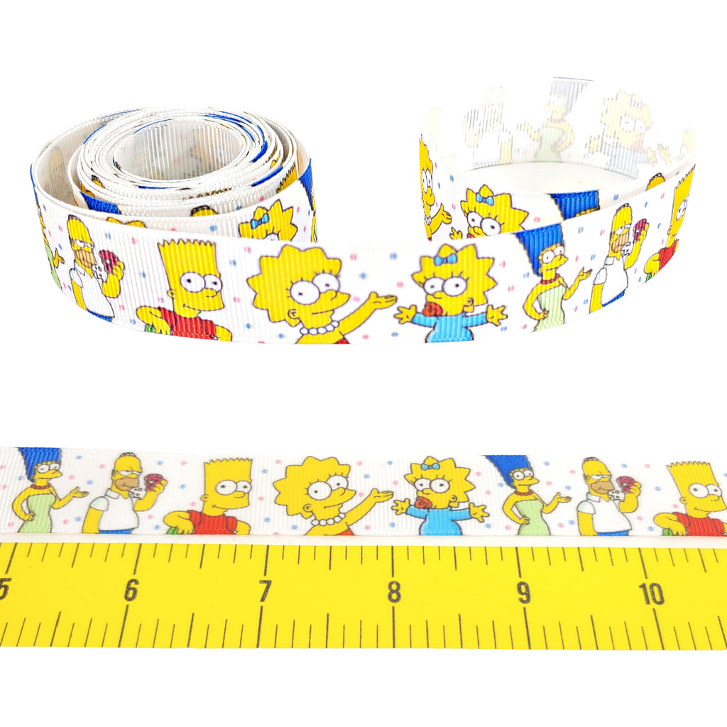 "The Simpsons </br> Grosgrain 5/8"" Ribbon by the Yard"