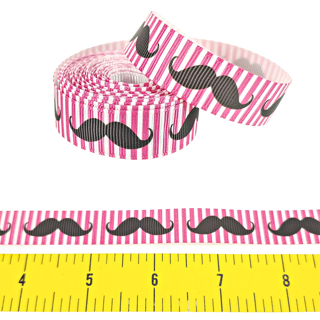 "Moustache </br> Grosgrain - 5/8"" - Ribbon by the Yard"