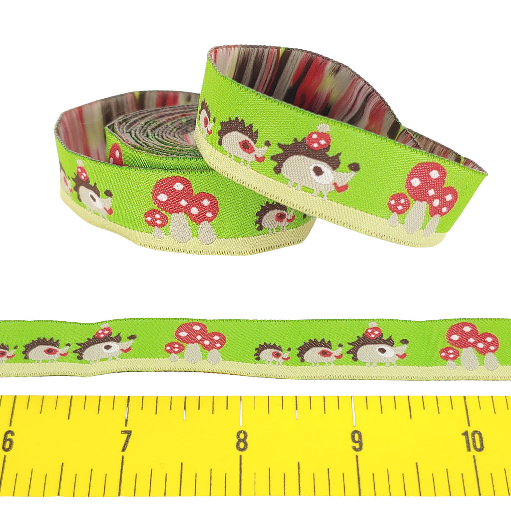 "Hedgehog Family </br> Polyester - 5/8"" - Ribbon by the Yard"
