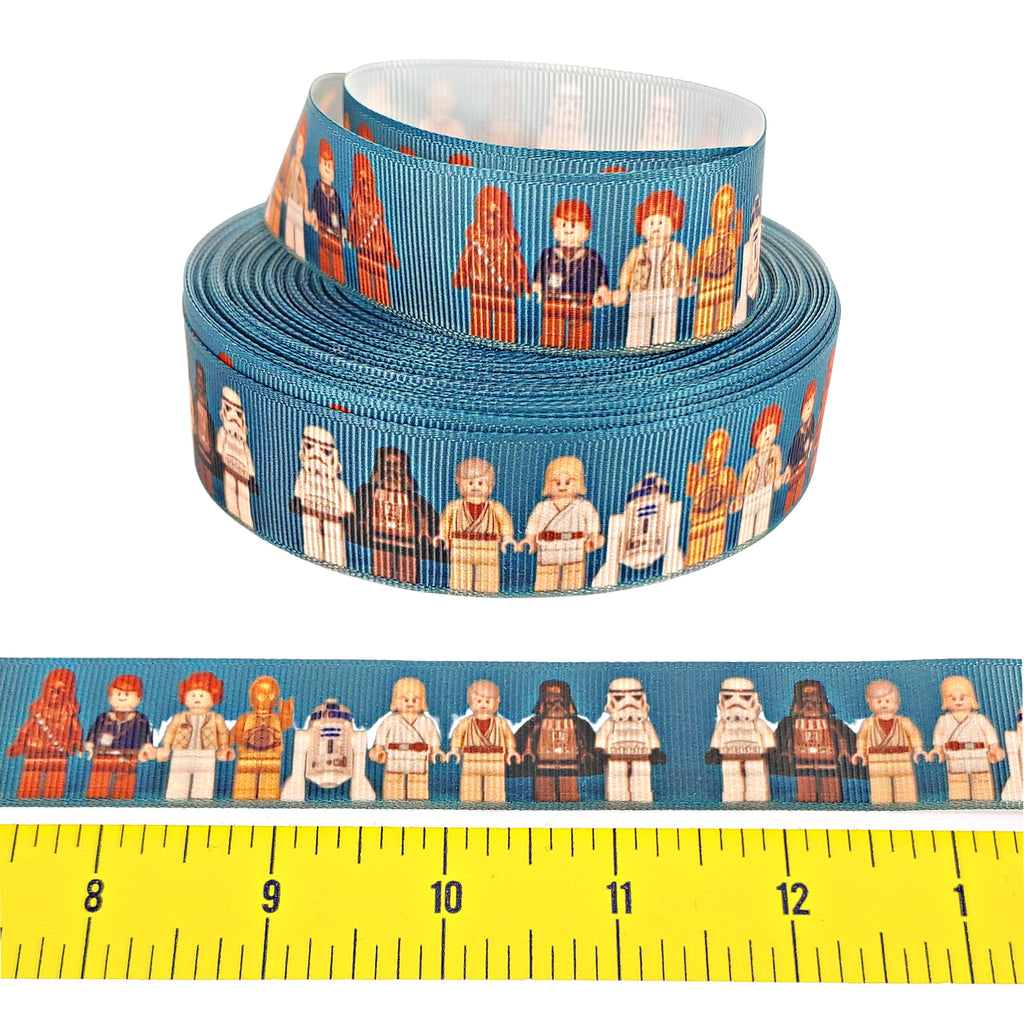 "Star Wars Lego </br> Grosgrain - 1""- Ribbon by the Yard"