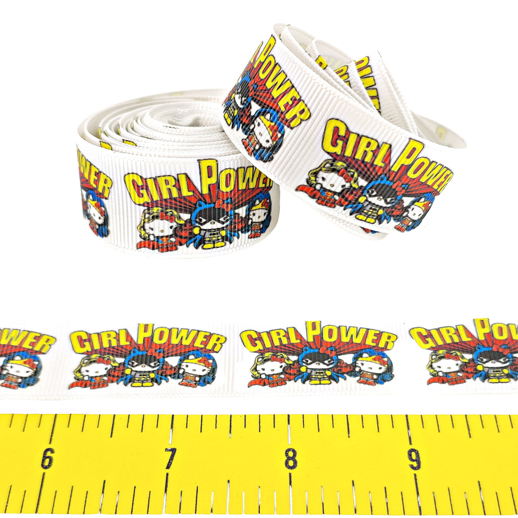 "Girl Power </br> Grosgrain - 7/8""- Ribbon by the Yard"