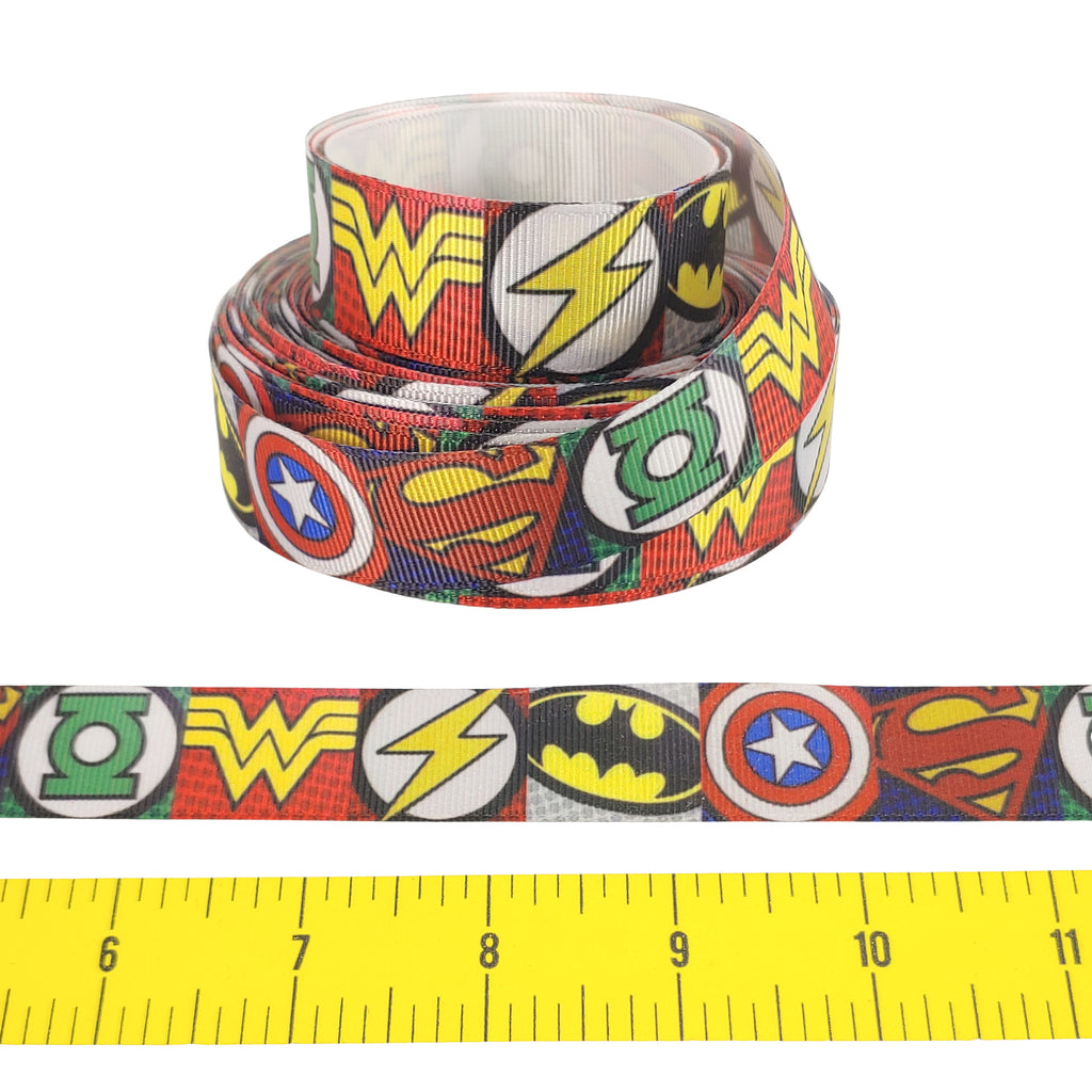 "SuperHeroes </br> Grosgrain Ribbon - 7/8""- Ribbon by the Yard"