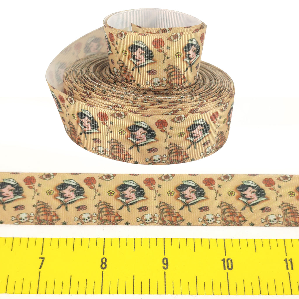 "Miss Fluffy's Fourth </br> Grosgrain - 1""- Ribbon by the Yard"