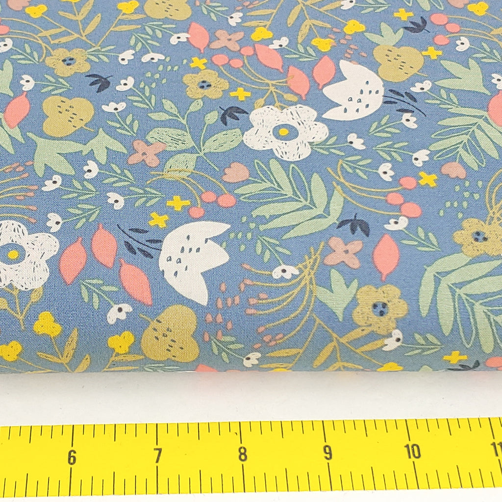Retro Floral </br> Designer Fabric - By the Yard