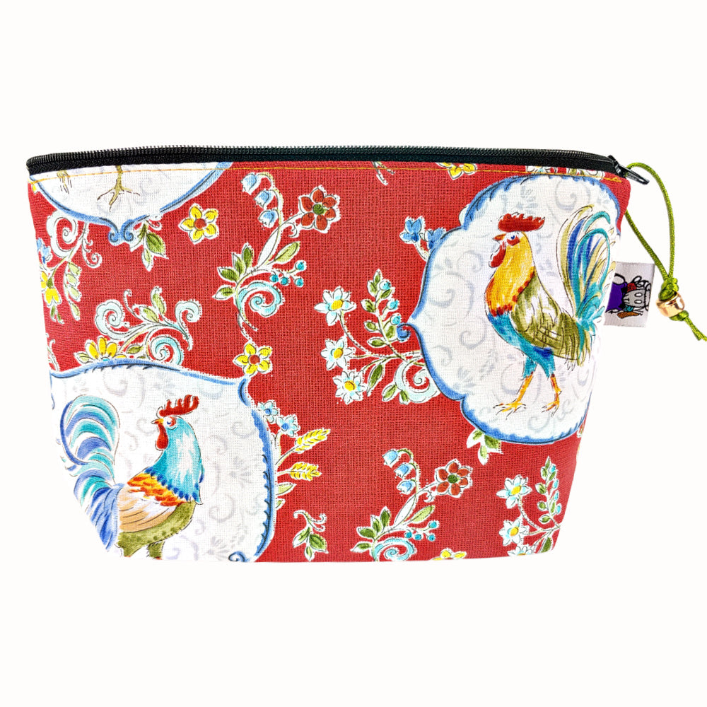 Courtyard Rooster* </br> Zipper Notion Pouch