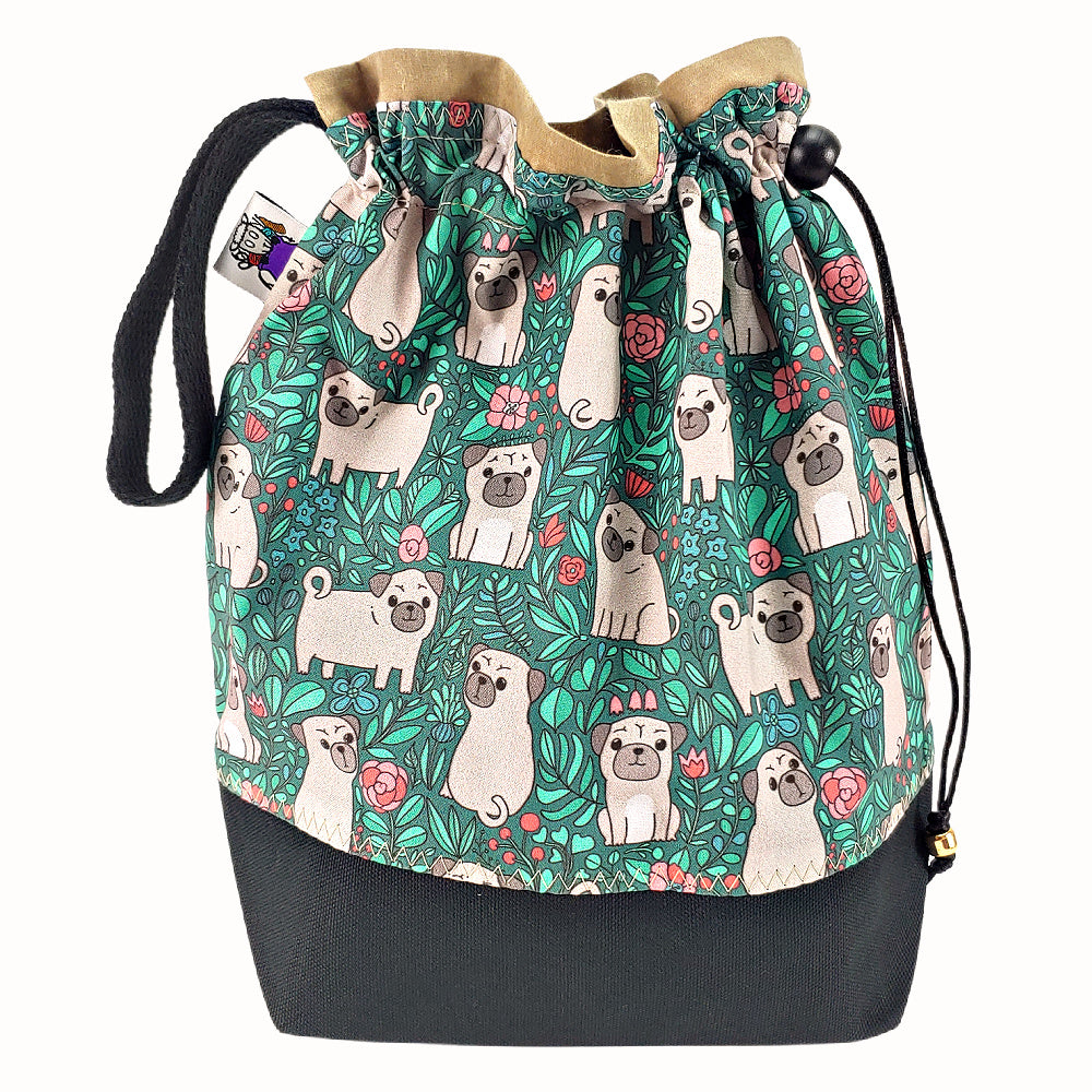 Pugs Need Hugs </br> Medium Project Bag