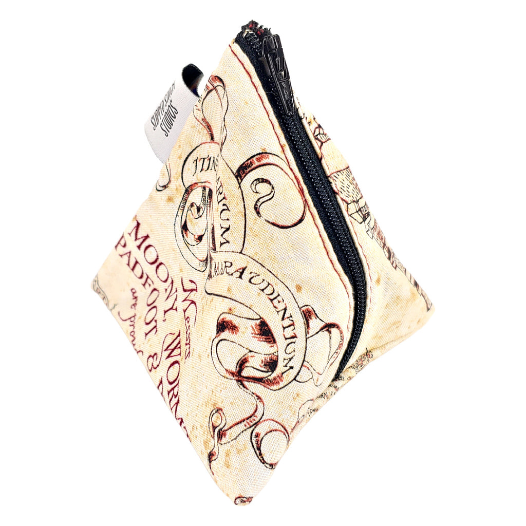 Marauder's Map </br> Triangle Zipper Notion Pouch