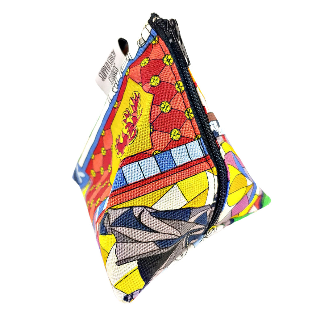 Potter Stained Glass </br> Triangle Zipper Notion Pouch