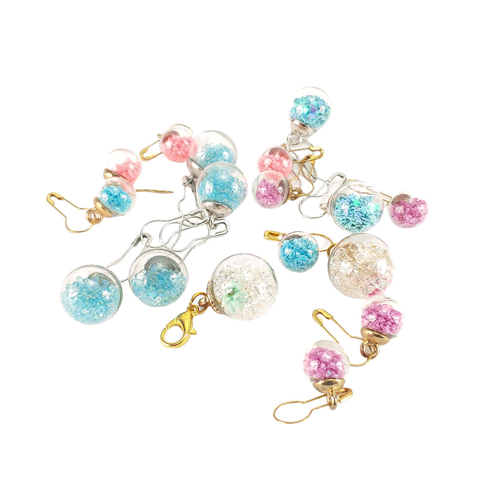 Glass Ball - choice of contents </br> Stitch Marker (Single)