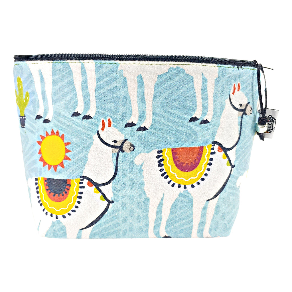 Sunny Day Llama (Flannel) </br> Zipper Notion Pouch