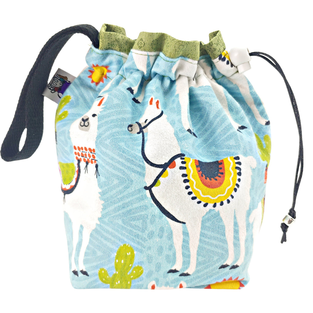 Sunny Day Llama (Flannel) </br> Small Project Bag