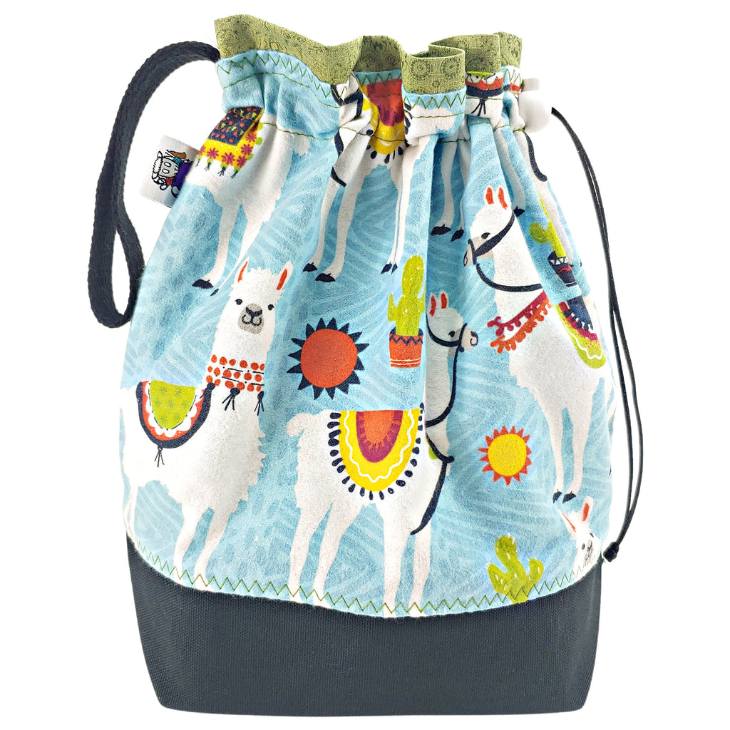 Sunny Day Llama (Flannel) </br> Medium Project Bag