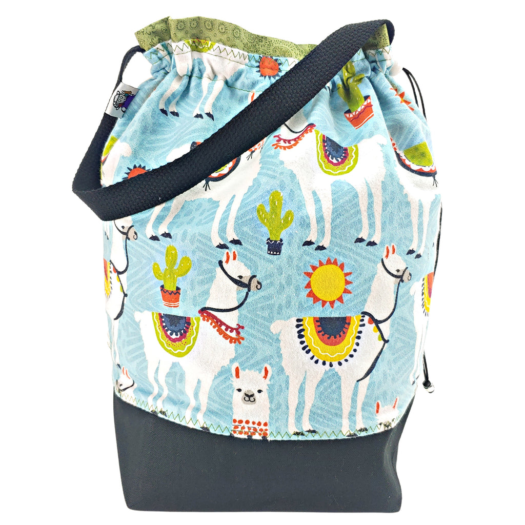 Sunny Day Llama (Flannel) </br> Large Project Bag