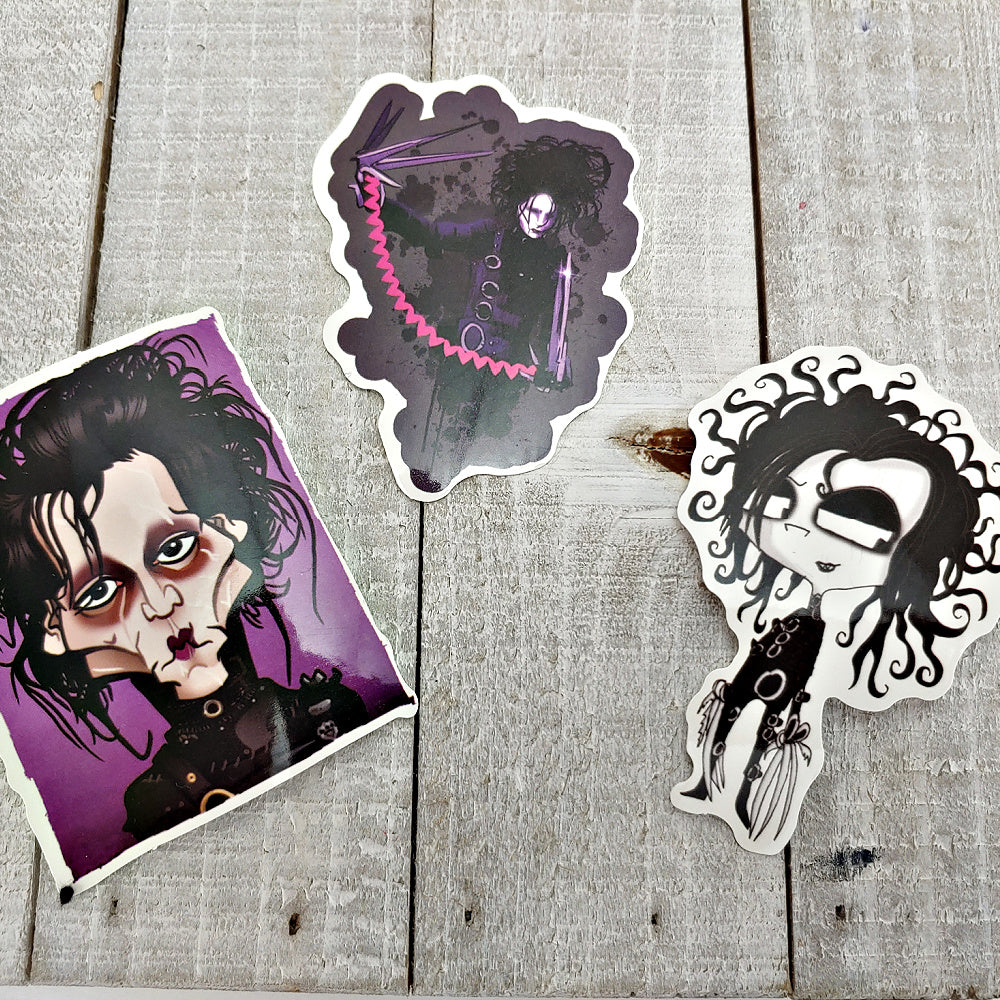 Edward Scissorhands 5 - Set of 3 Stickers