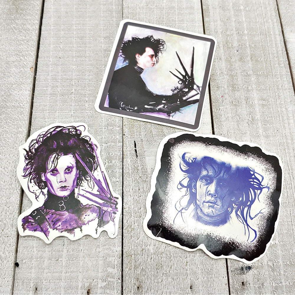 Edward Scissorhands 4 - Set of 3 Stickers
