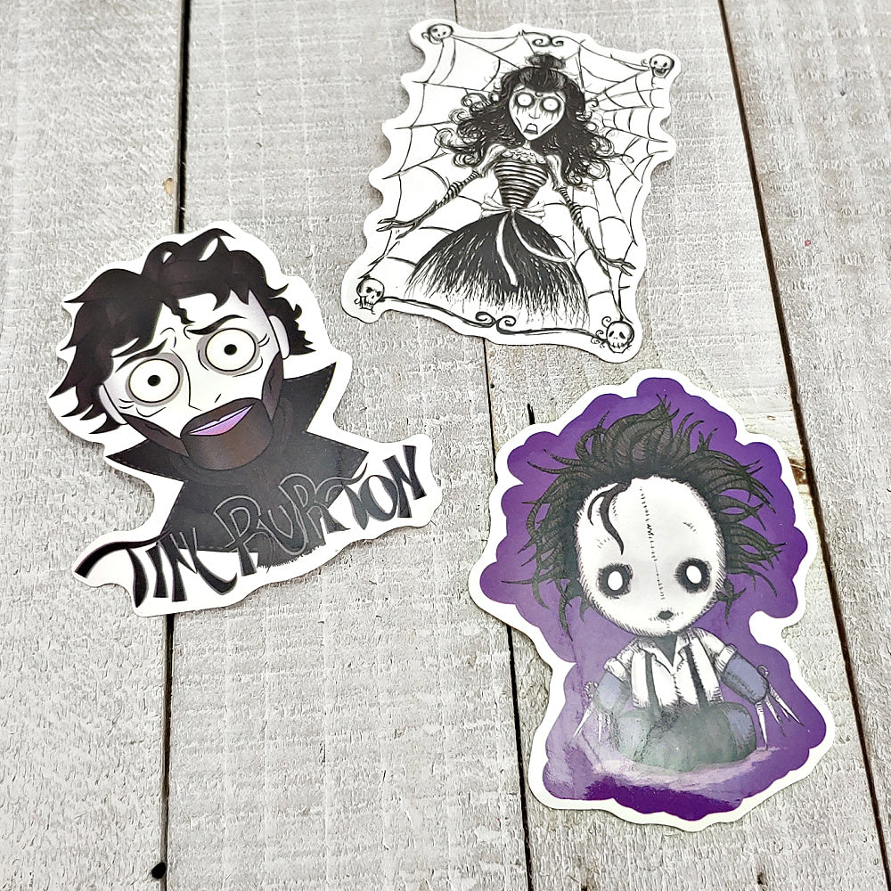 Edward Scissorhands 6 - Set of 3 Stickers