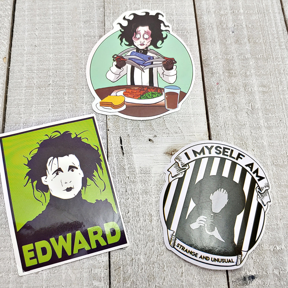 Edward Scissorhands 7 - Set of 3 Stickers