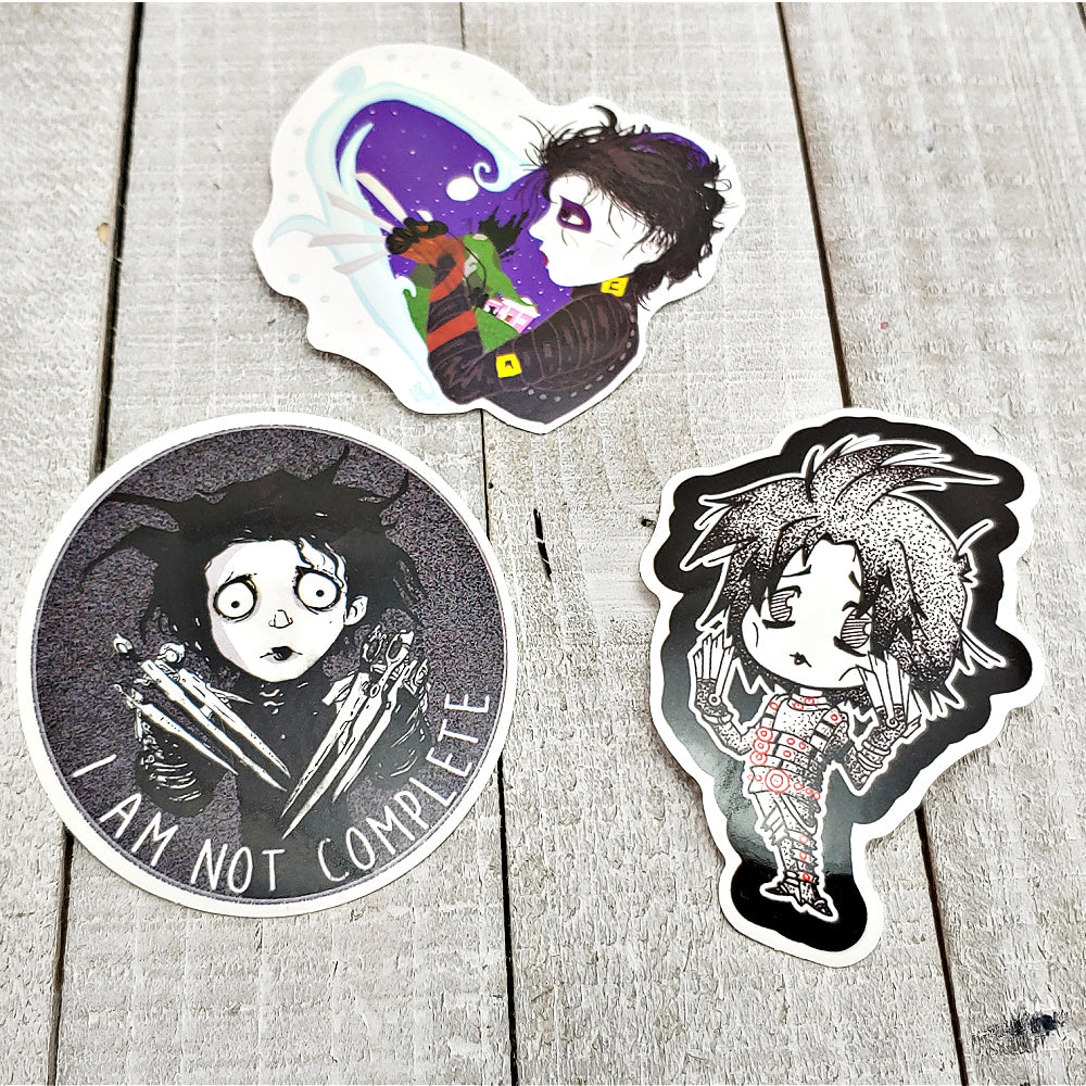 Edward Scissorhands 2 - Set of 3 Stickers