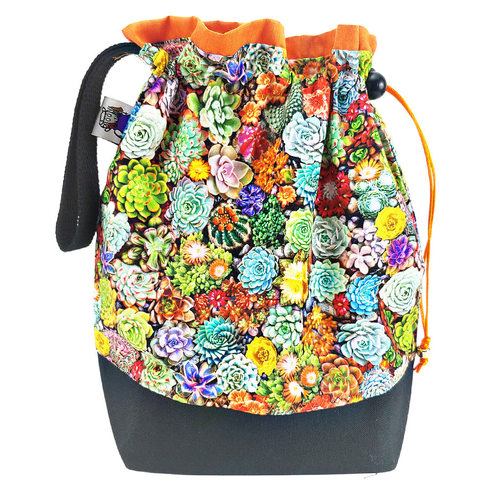 Rainbow Succulents </br> Medium Project Bag