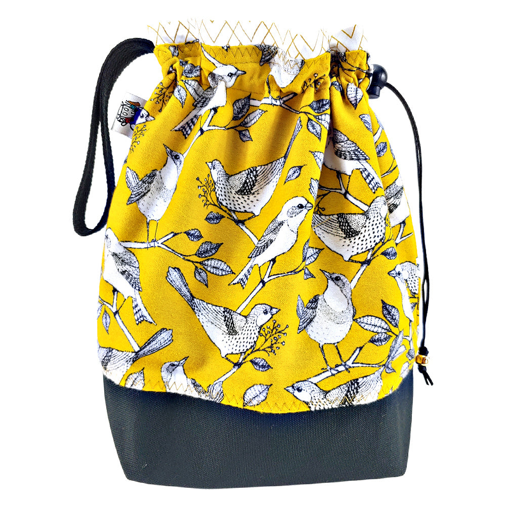 Golden Songbird (flannel) </br> Medium Project Bag