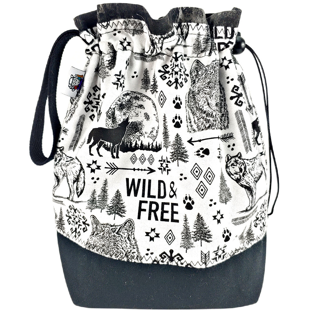 Wild & Free (flannel) </br> Medium Project Bag