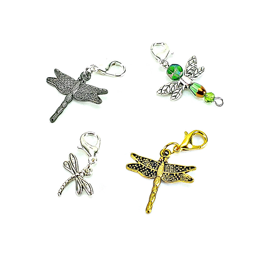Dragonfly (pewter, silver/green, silver, gold) </br> Stitch Marker (Single)