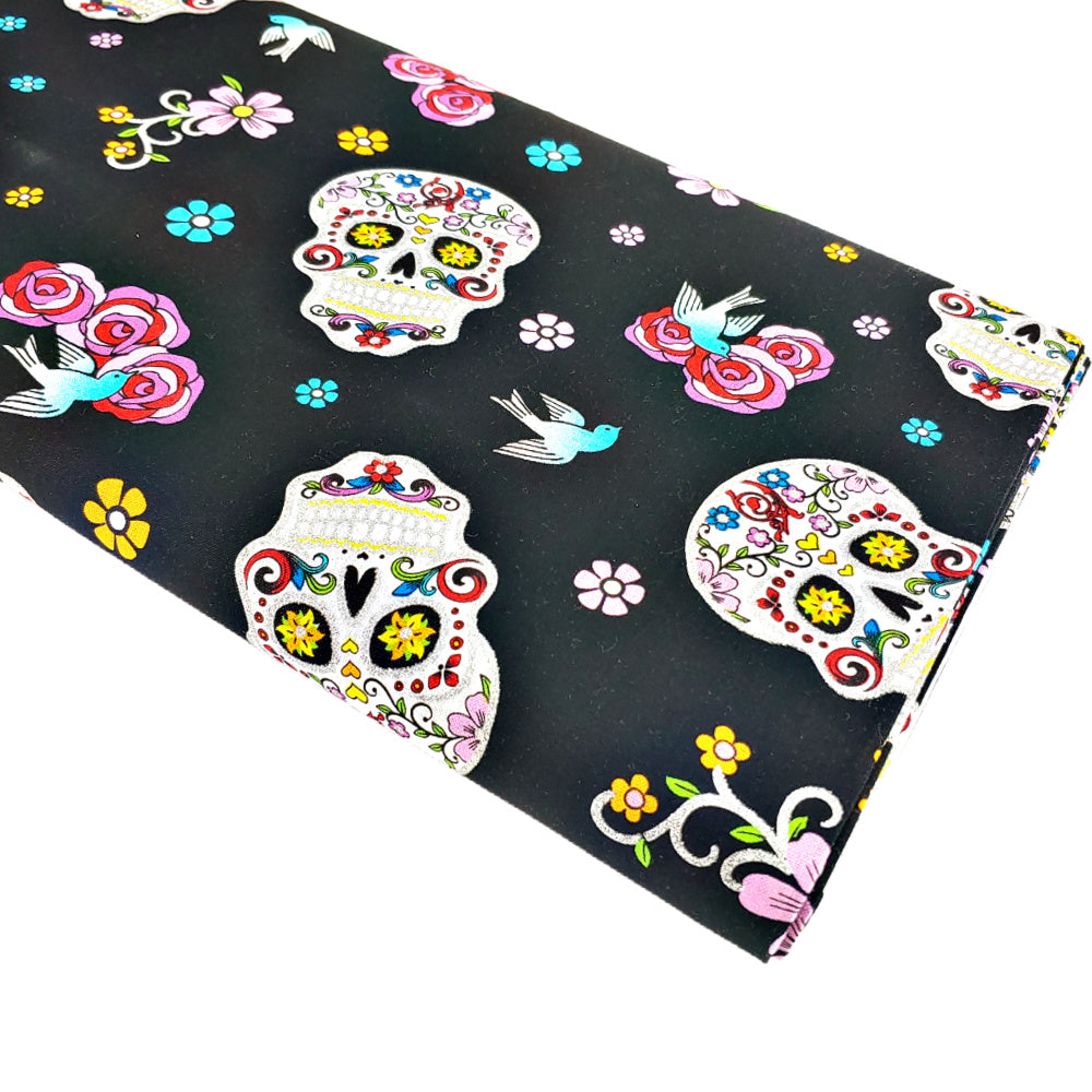 Sugar Glitter Skulls </br> Designer Fabric - By the Yard