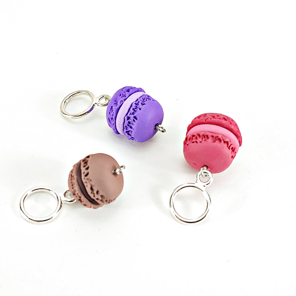 Macaroon (Purple, Magenta, Brown) </br> Stitch Marker (Single)