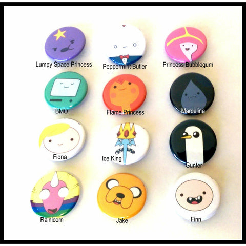 Pinback Buttons - Adventure Time - Complete your Set