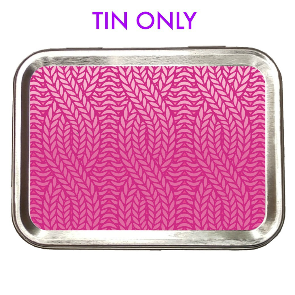 Pink Knit Ombre </br> Crafter's Tool box (Empty):Tool Box,Slipped Stitch Studios:Slipped Stitch Studios