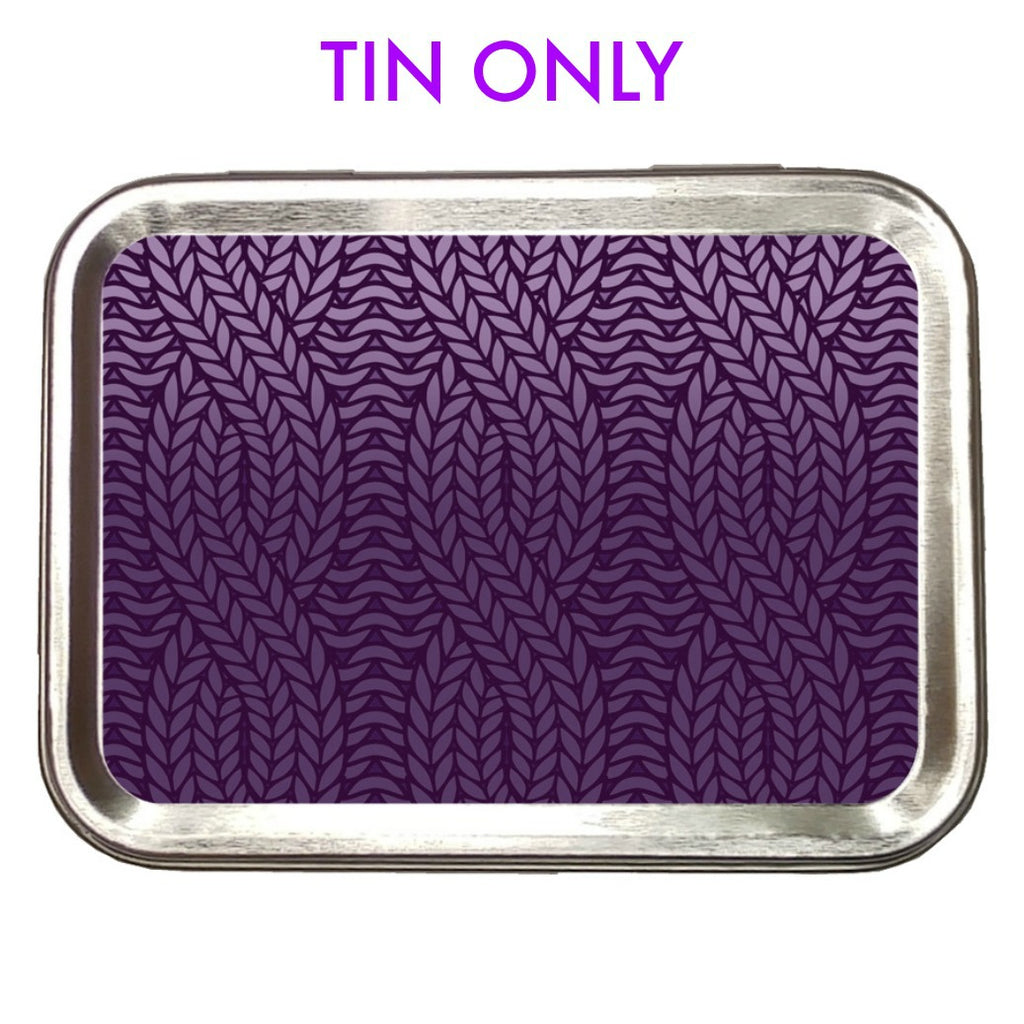 Purple Knit Ombre </br> Crafter's Tool box (Empty):Tool Box,Slipped Stitch Studios:Slipped Stitch Studios