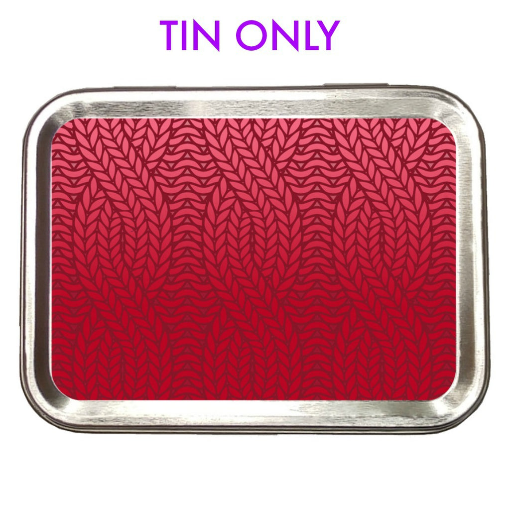Red Knit Ombre </br> Crafter's Tool box (Empty):Tool Box,Slipped Stitch Studios:Slipped Stitch Studios
