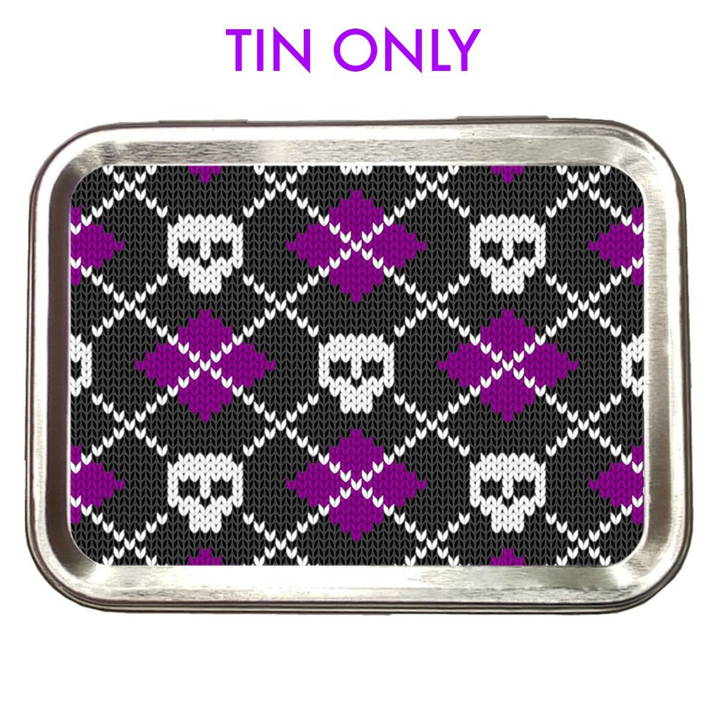 Skull Argyle Purple </br> Crafter's Tool box (Empty):Tool Box,Slipped Stitch Studios:Slipped Stitch Studios