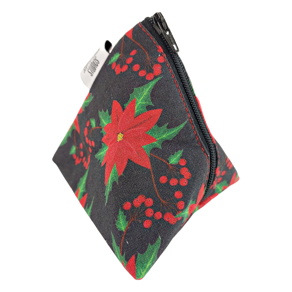 Poinsettia </br> Triangle Zipper Notion Pouch
