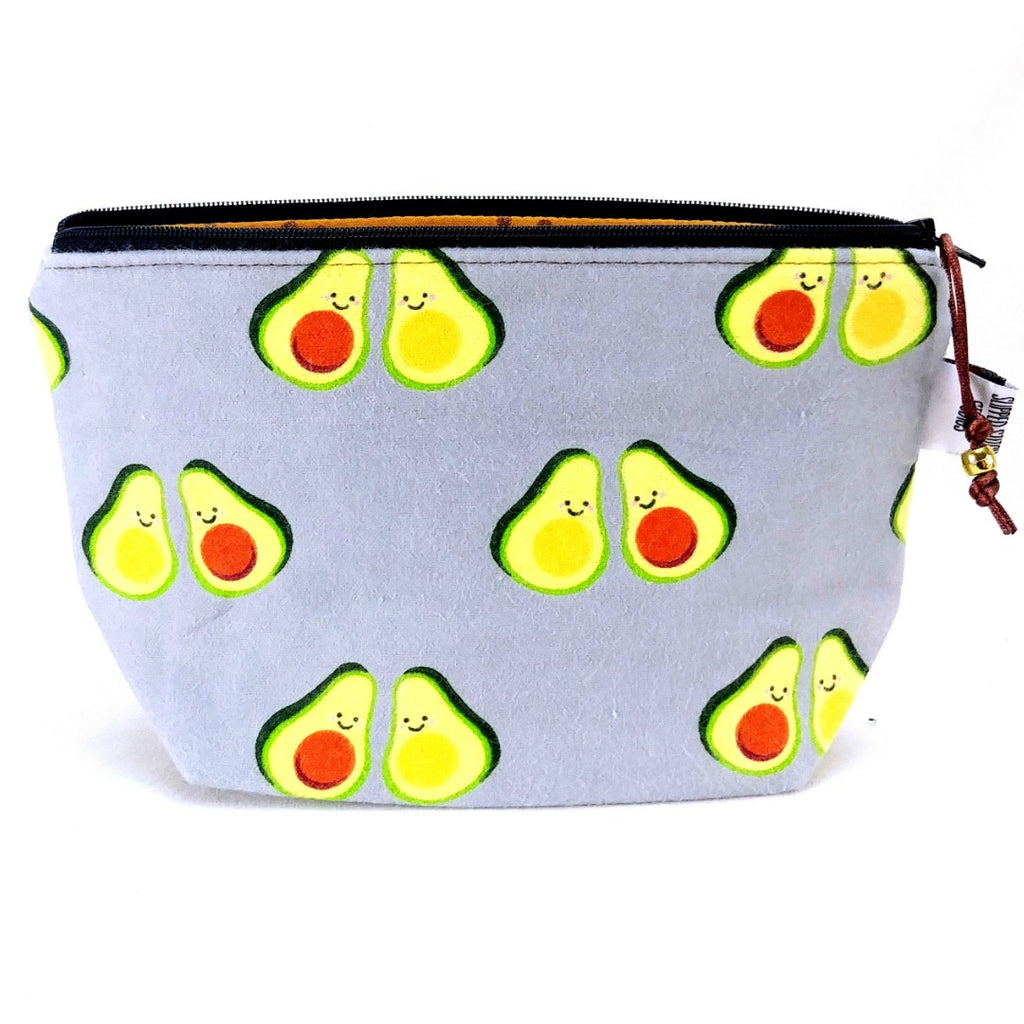 Zipper Notion Pouch - Avo-cuddle (Flannel):Zipper Notion Pouch,Slipped Stitch Studios:Slipped Stitch Studios