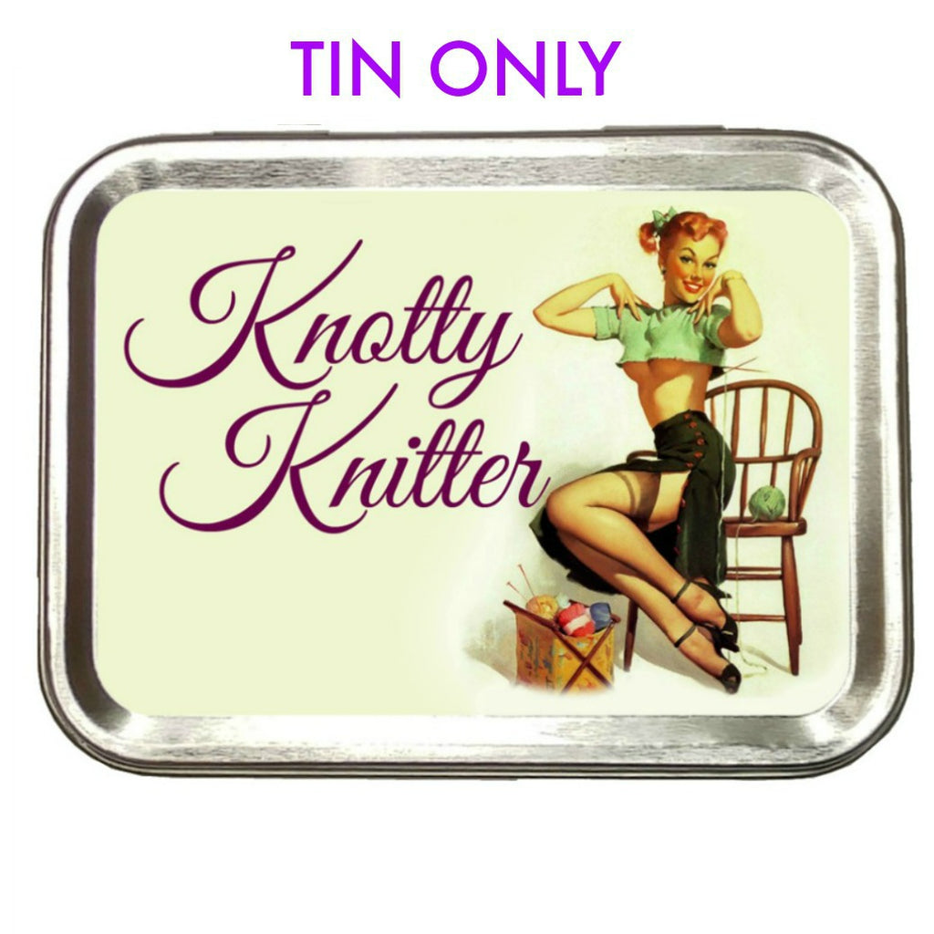 Knotty Knitter </br> Crafter's Tool box (Empty):Tool Box,Slipped Stitch Studios:Slipped Stitch Studios