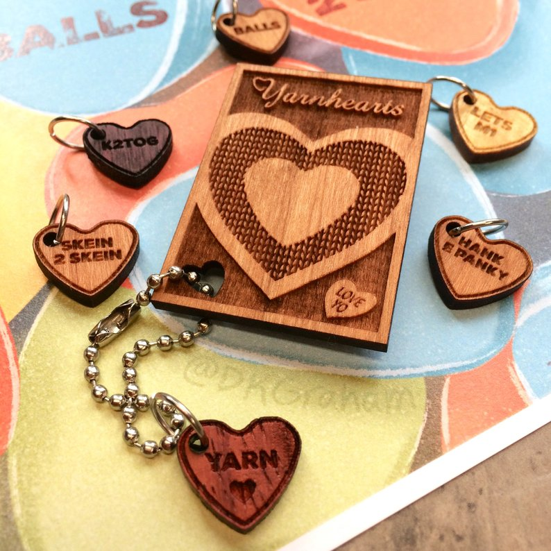 Sweet 'n Sassy Candy Yarnhearts Stitch Marker & Pin Set (Pre Order):Stitch Markers,Slipped Stitch Studios:Slipped Stitch Studios