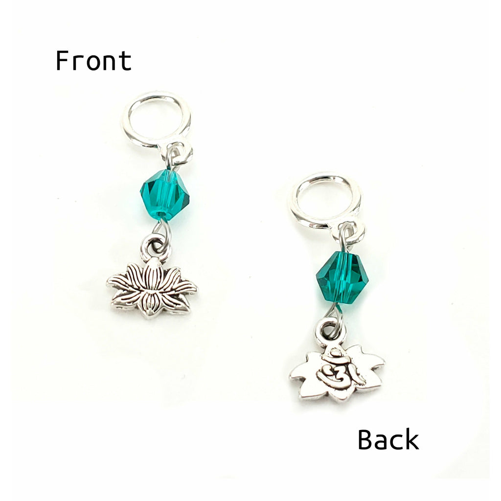 Lotus </br> Stitch Marker (Single):Stitch Markers,Slipped Stitch Studios:Slipped Stitch Studios