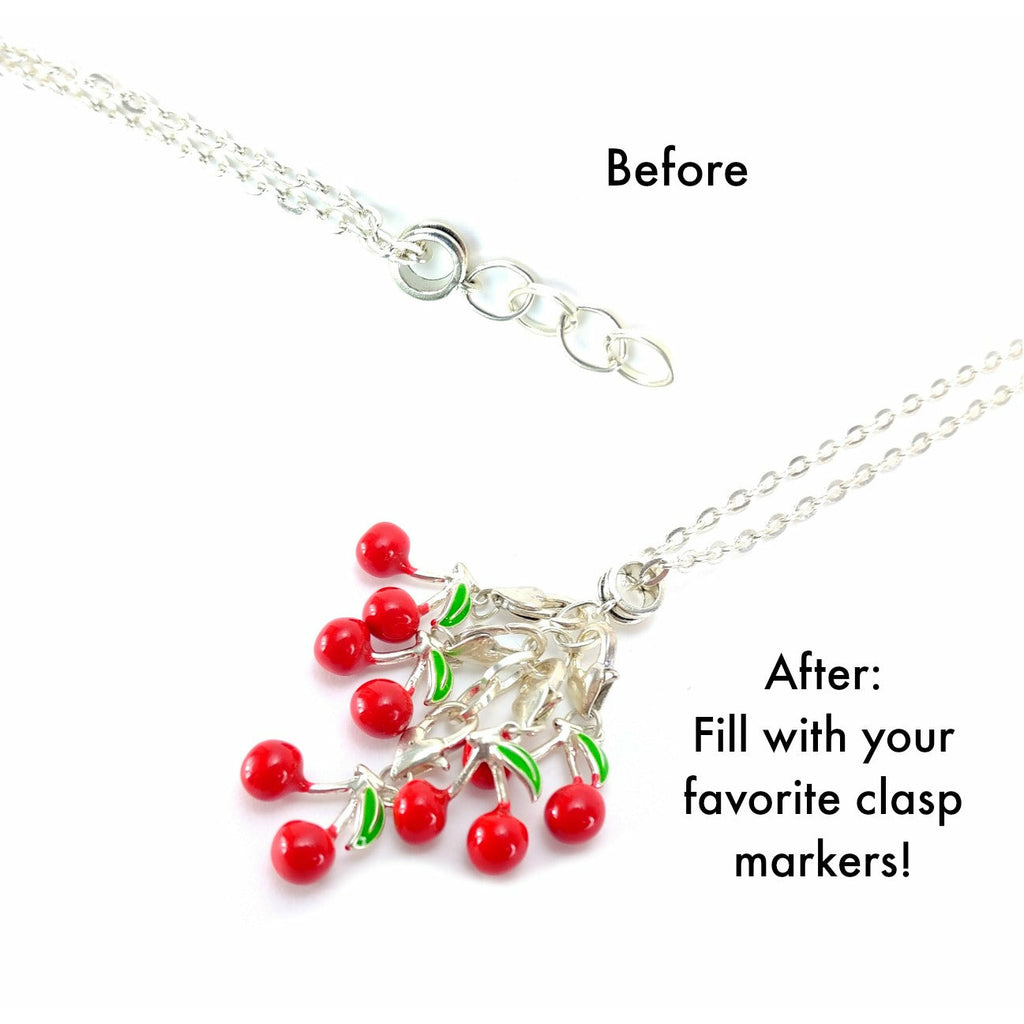 Kitty (Gold Clasp Only) </br> Stitch Marker (Single):,:Slipped Stitch Studios