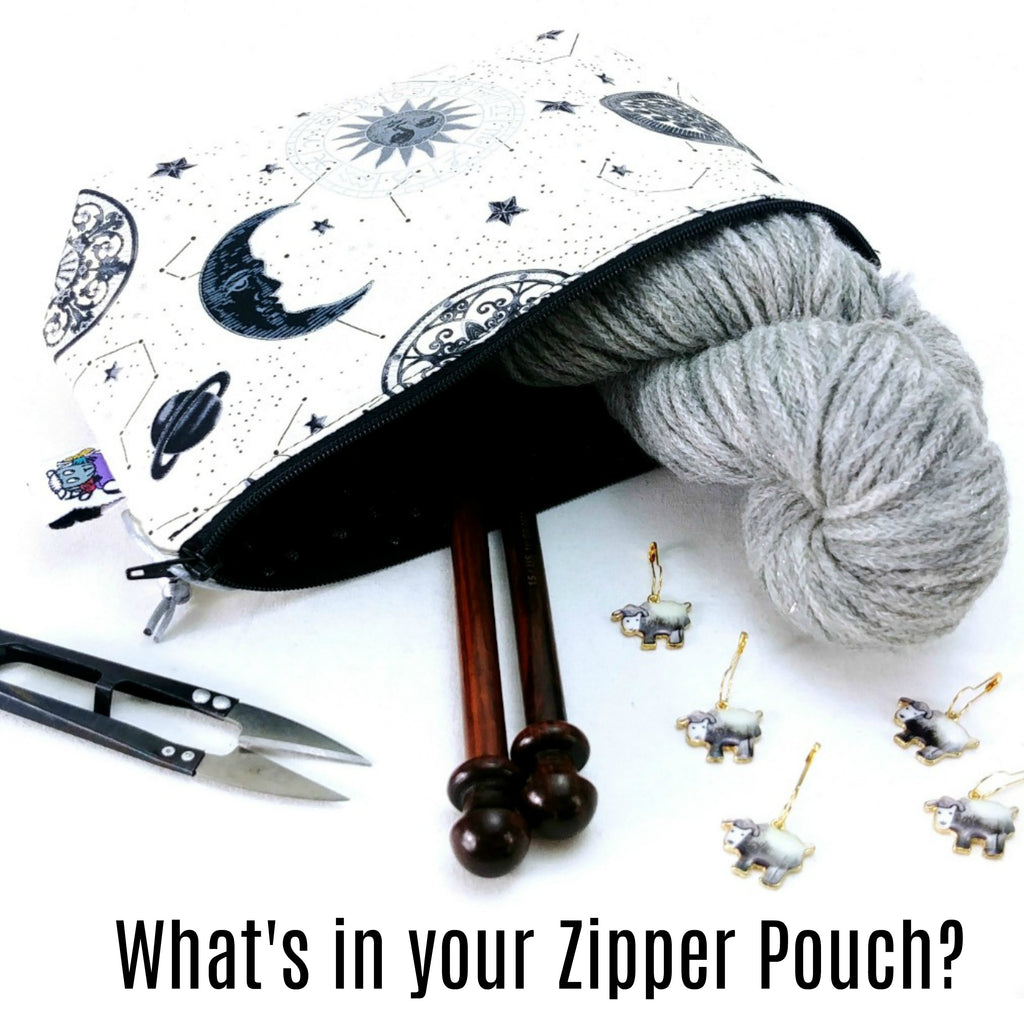 Sweater Weather </br> Zipper Notion Pouch:,:Slipped Stitch Studios