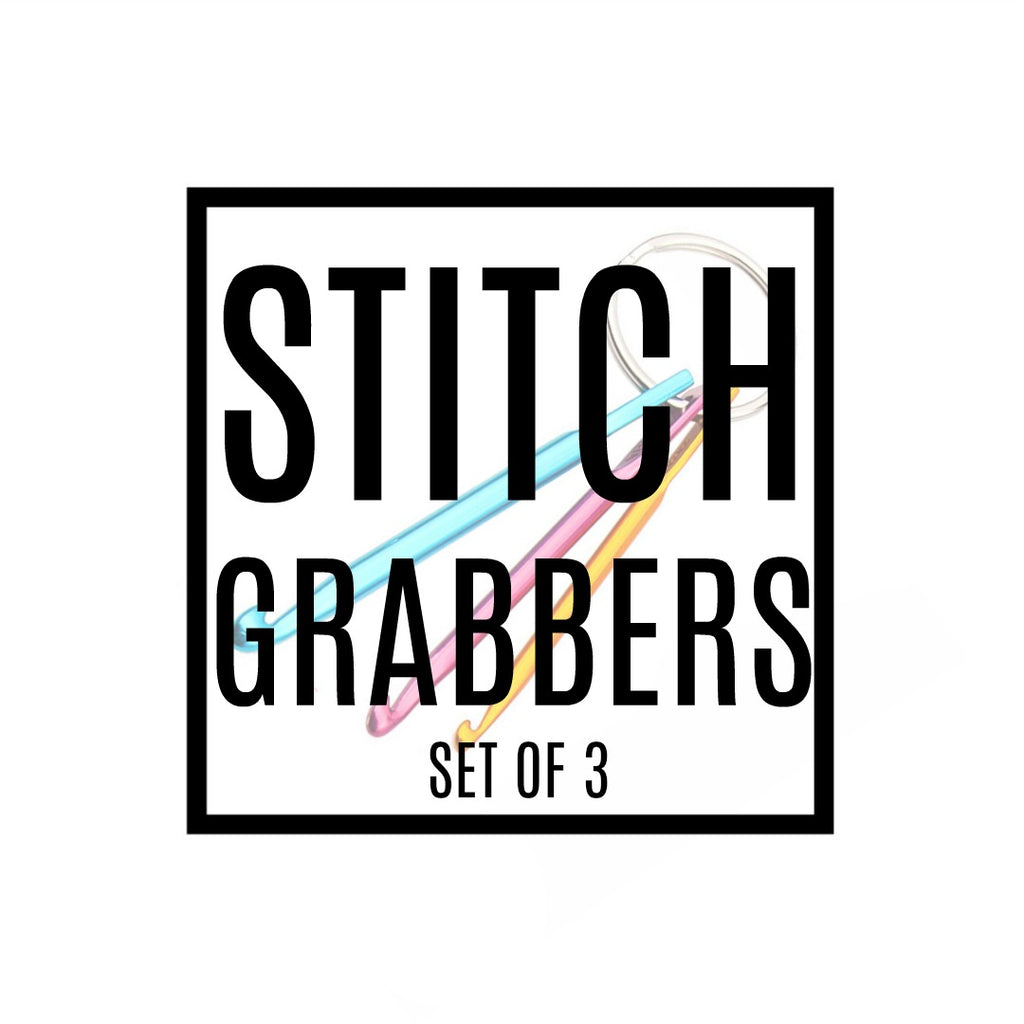 Stitch Grabber (Set of 3 - Royal Blue, Gold, Dark Pink):,:Slipped Stitch Studios