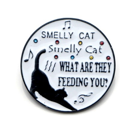 Smelly Cat Pin </br> Accessories:,:Slipped Stitch Studios