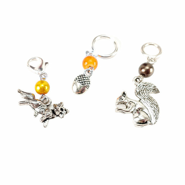 Fox, Acorn, or Squirrel </br> Stitch Marker (Single)