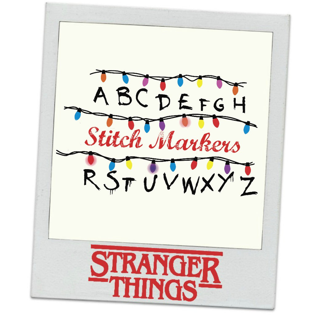 Stranger Things </br> Stitch Markers </br> Set of 5 </br> Pre Order:Stitch Markers,Slipped Stitch Studios:Slipped Stitch Studios