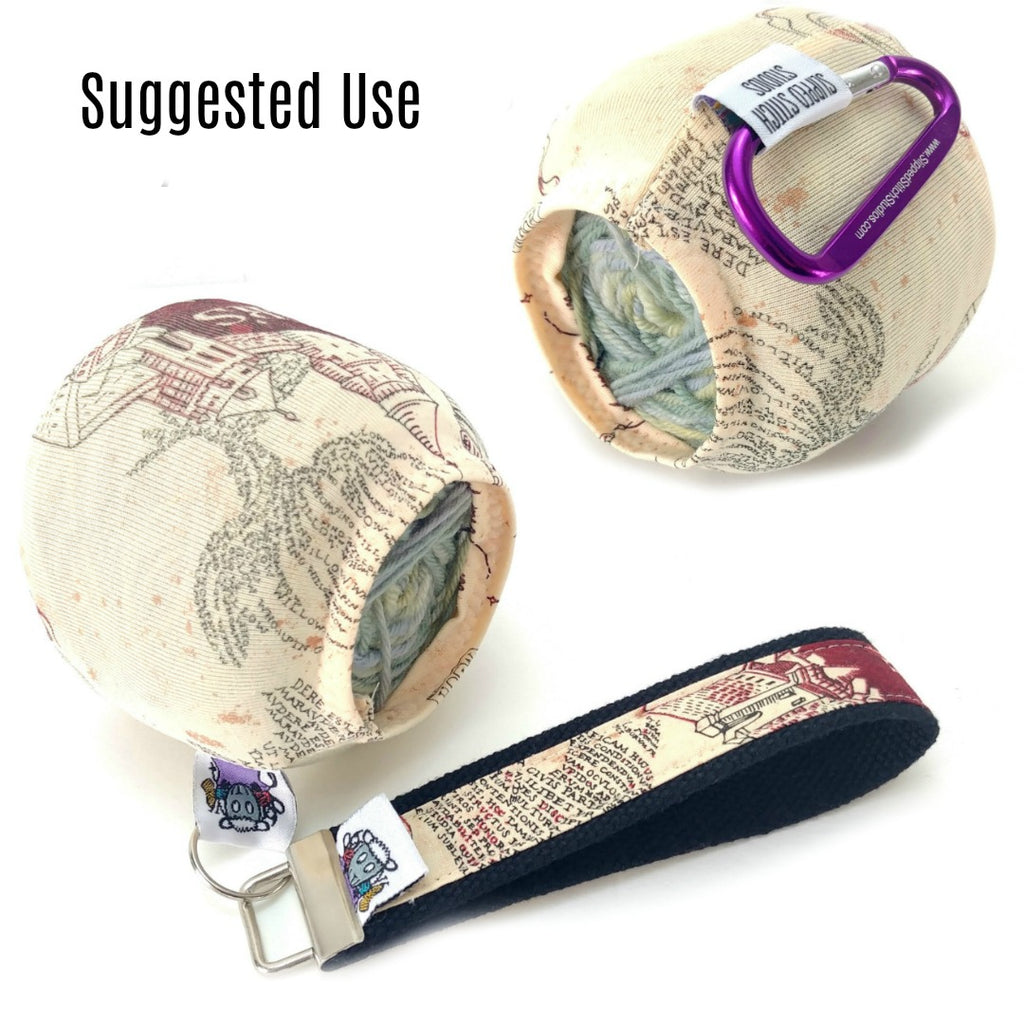 Villains Candy Apples Travel Lanyard </br>:,:Slipped Stitch Studios